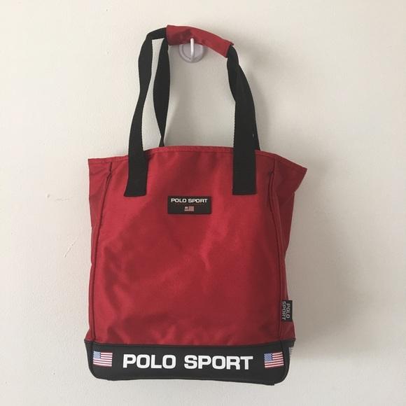 eb76028af2 Vintage 90 s Polo Sport Tote Bag Purse Red. M 5b4b81e2aaa5b8abc21abe48